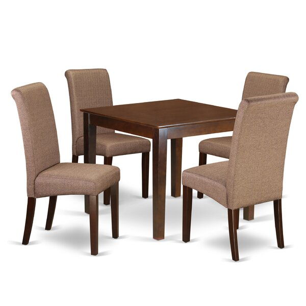 Araceli Square Table 5 Piece Solid Wood Breakfast Nook Dining Set by Winston Porter