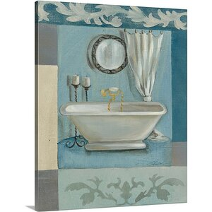 'Antique Bath II' by Silvia Vassileva Painting Print on Canvas by Canvas On Demand