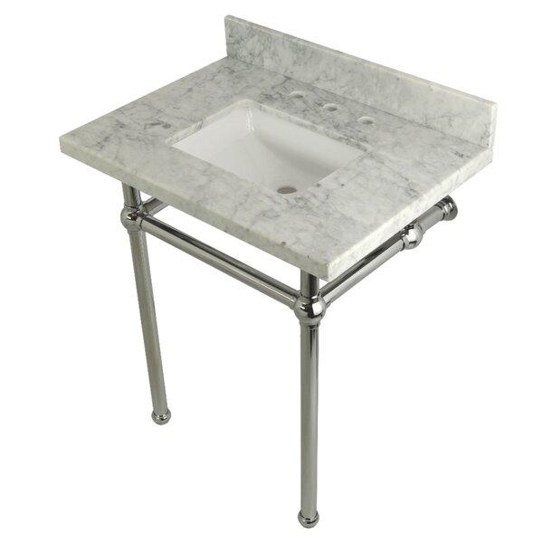 Carrara Marble 30 Single Bathroom Vanity Set by Kingston Brass