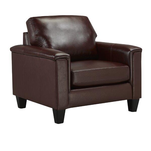 Deboer Top Grain Leather Armchair