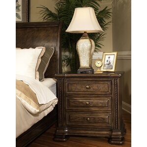 Alexander 3 Drawer Nightstand by Sage ..
