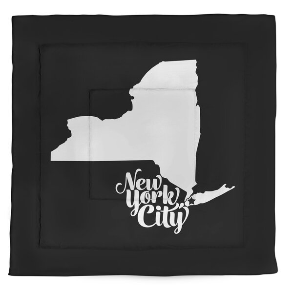 New York City Single Reversible Comforter