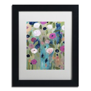 Entwined by Carrie Schmitt Framed Painting Print in White Mat by Trademark Fine Art