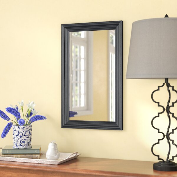 Traditional Rectangle Wall Mirror by Three Posts