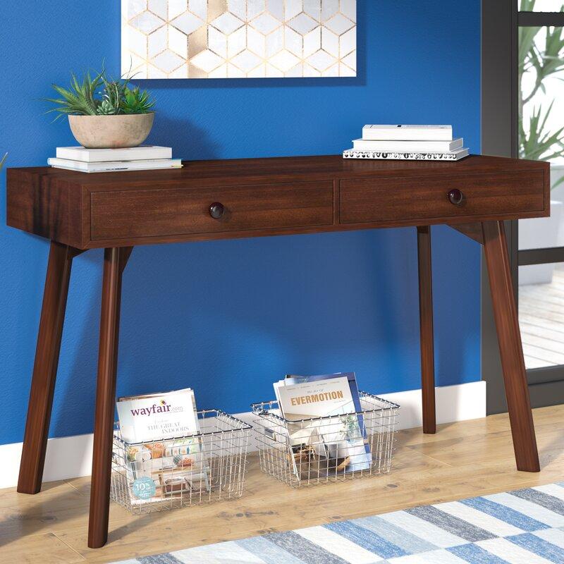 Jovani Acacia Wood Console Table