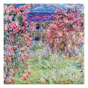 The House of Roses by Claude Monet Painting Print by Prestige Art Studios