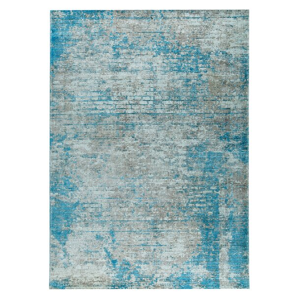 Dallas Hand-Woven Blue Area Rug by M.A. Trading