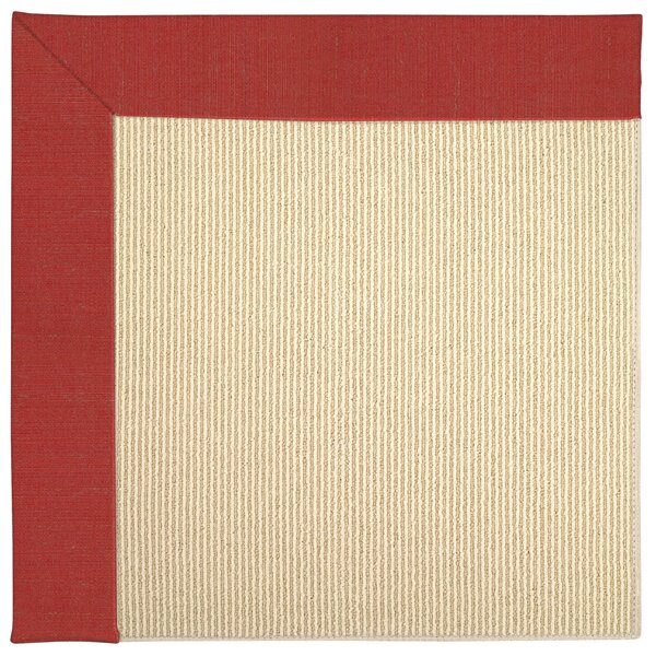 Lisle Machine Tufted Red Crimson/Beige Indoor/Outdoor Area Rug by Longshore Tides