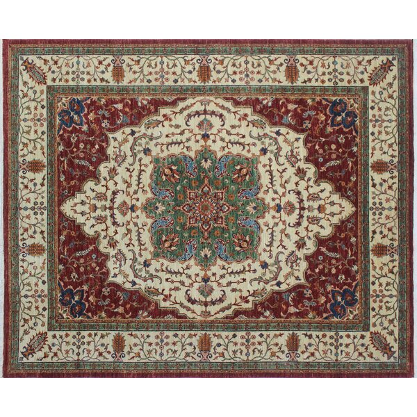 One-of-a-Kind Kazak Super Gulbahram Hand-Knotted Red Area Rug by Noori Rug