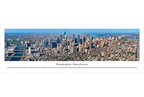US skyline Philadelphia, Pennsylvania by James Blakeway Photographic Print by Blakeway Worldwide Panoramas, Inc