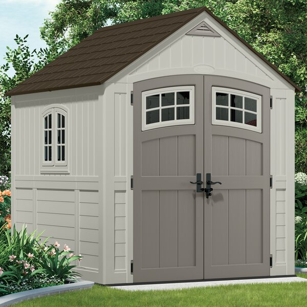 Cascade 7 ft. 4 in. W x 7 ft. 3 in. D Plastic Storage Shed by Suncast