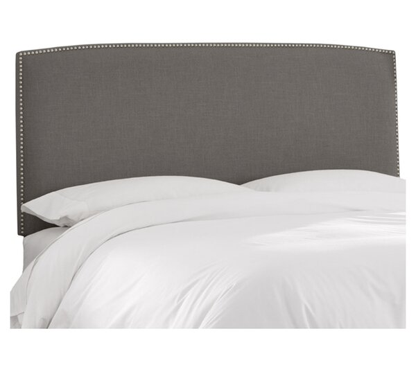 Mara Linen Upholstered Panel Headboard by Skyline Furniture