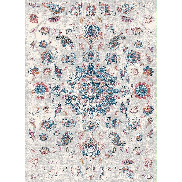 Petitt Cream/Blue Area Rug by Bungalow Rose