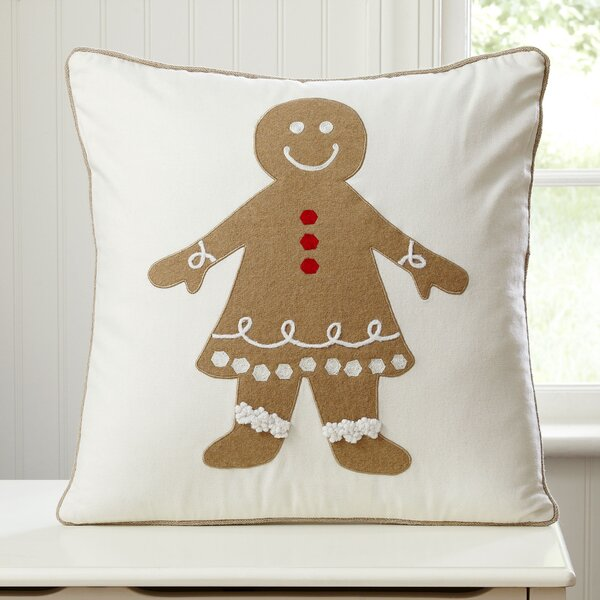 Gingerbread Girl Pillow Cover by Birch Lane Kids™