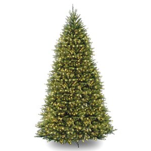fir 10 hinged green artificial christmas tree with 1200 clear lights - Artificial Christmas Trees Sale
