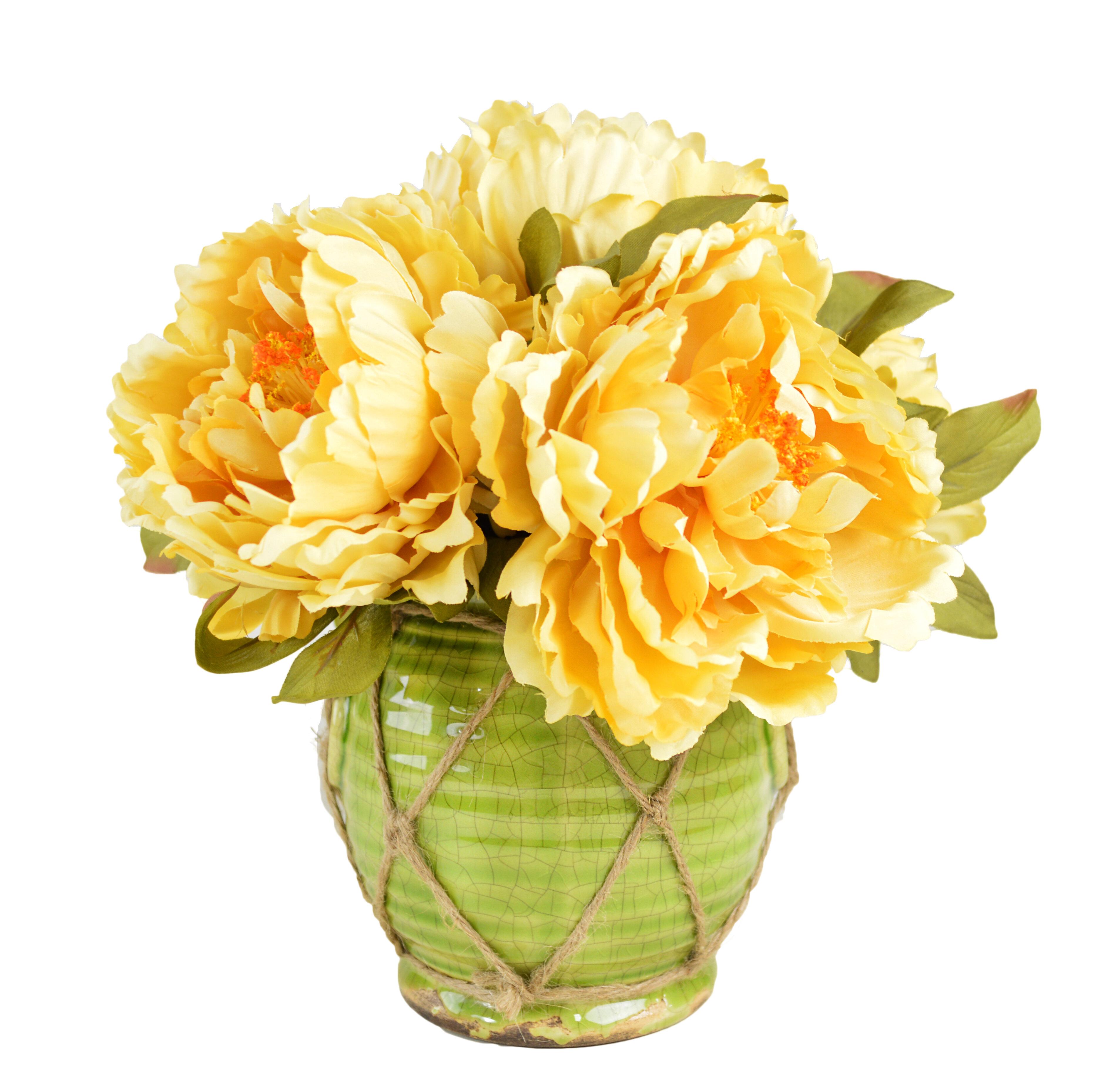 Creative Displays Inc Faux Peonies Floral Arrangements In