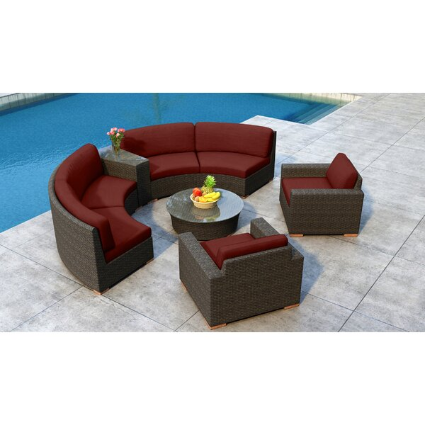 Glen Ellyn 6 Piece Sectional Set with Sunbrella Cushion by Everly Quinn