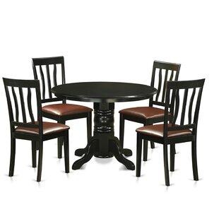 Langwater 5 Piece Pedestal Dining Set ByBeachcrest Home