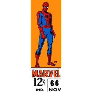 Marvel Comics (Retro) - Book Spider-Man Price Tag Panoramic Vintage Advertisement on Canvas by iCanvas