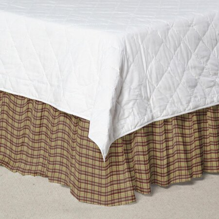 Plaid Cotton Bed Skirt by Patch Magic