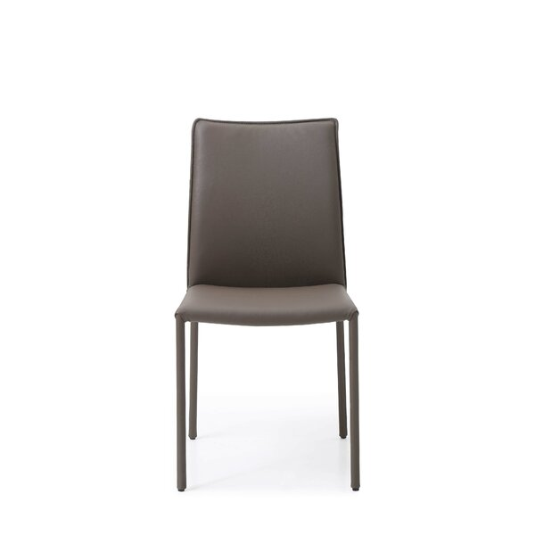 Nieto Genuine Leather Upholstered Dining Chair (Set of 4) by Orren Ellis
