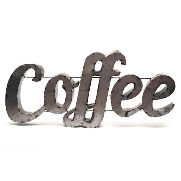 Coffee Sign with Rebar Wall Décor