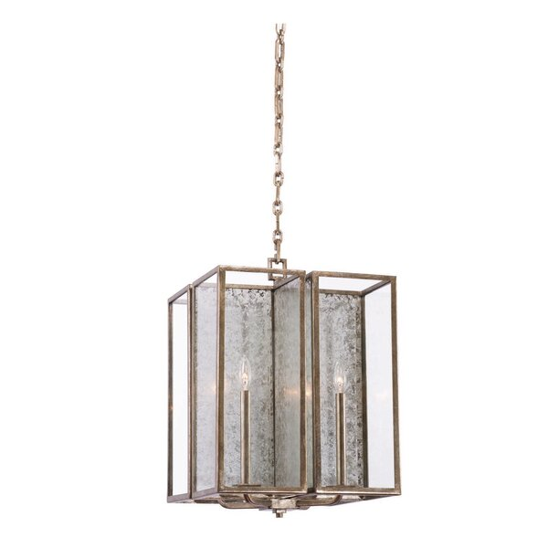 Camilla 4-Light Candle Style Rectangle / Square Chandelier by Kalco Kalco