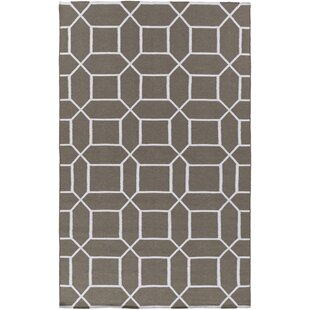 Larksville Charcoal/Ivory Indoor/Outdoor Area Rug By Charlton Home