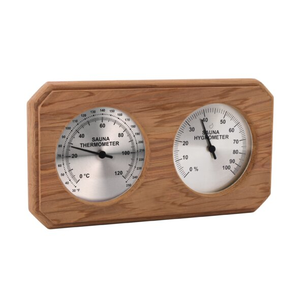 Encased Thermometer/Hygrometer by Premium Saunas