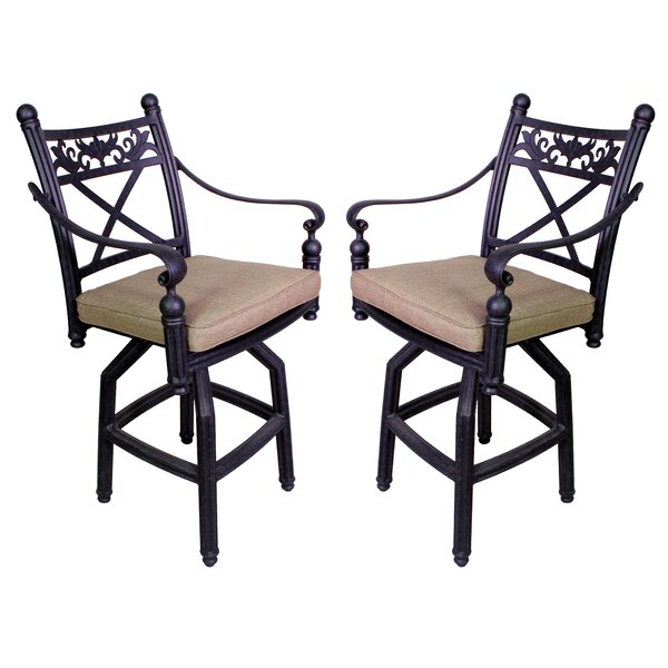 Baldwin 27.25 Patio Bar Stool with Cushion (Set of 2) by California Outdoor Designs
