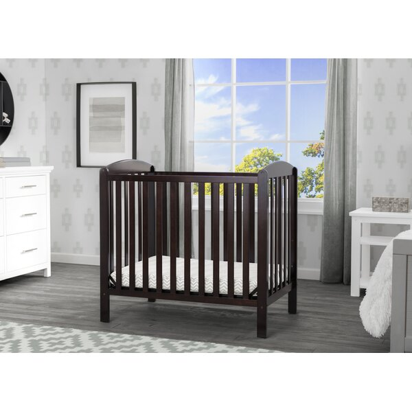 Abby 2-in-1 Mini Convertible Crib with Mattress by