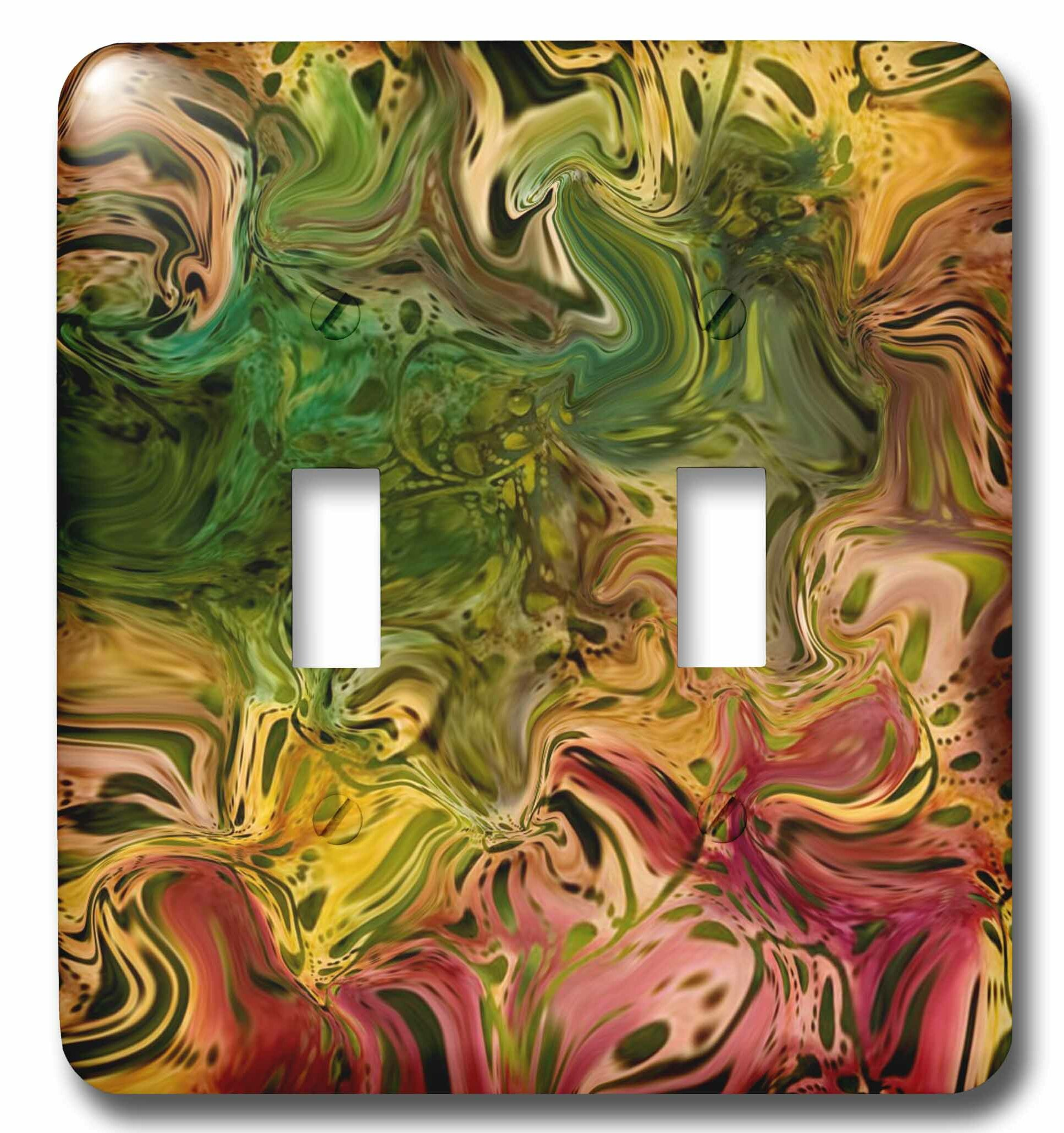 3drose Abstract Painting 2 Gang Toggle Light Switch Wall Plate Wayfair