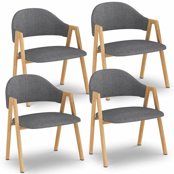 Hardman Upholstered Dining Chair (Set of 4) by George Oliver