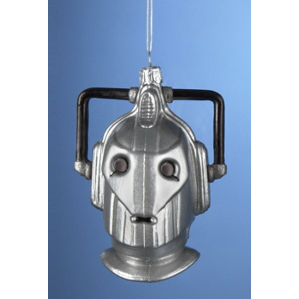 4.25 Doctor Who Cyberman Handcrafted Glass Christmas Hanging Figurine by The Holiday Aisle