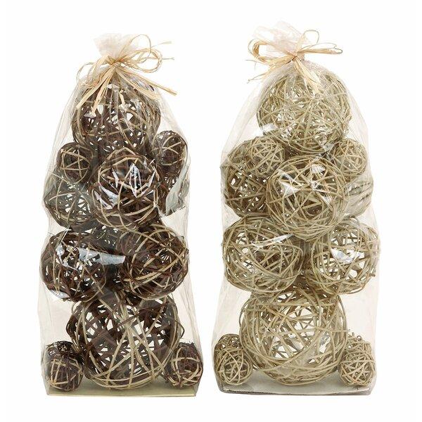 Decorative Dried Sali Balls (Set of 2) by Cole & Grey