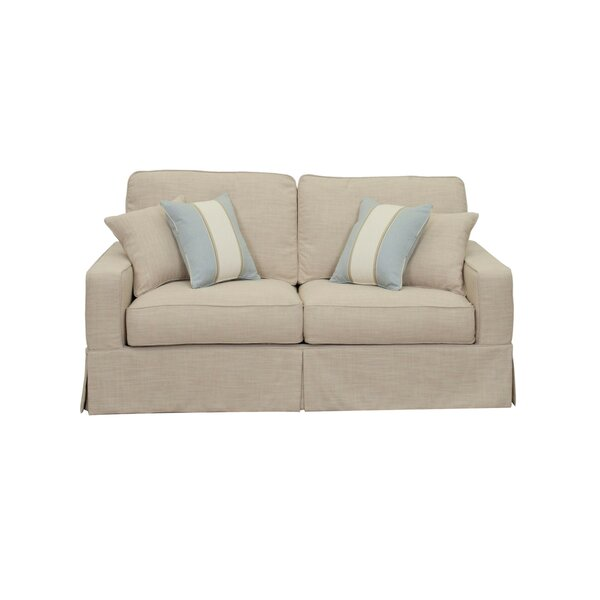 Top Brand Glenhill Slipcovered Loveseat by Rosecliff Heights by Rosecliff Heights