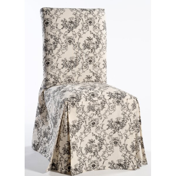 Toile Print Long Box Cushion Dining Chair Slipcover (Set of 2) by Ophelia & Co.