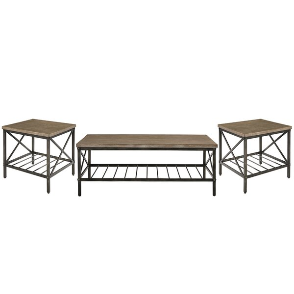 Metrodora 3 Piece Coffee Table Set by Williston Fo