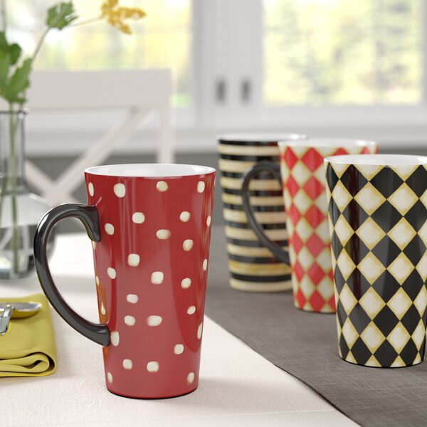 Styers 4 Piece Ceramic Coffee Mug Set by Red Barrel Studio