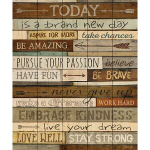 'New Day' Textual Art on Wood by Andover Mills