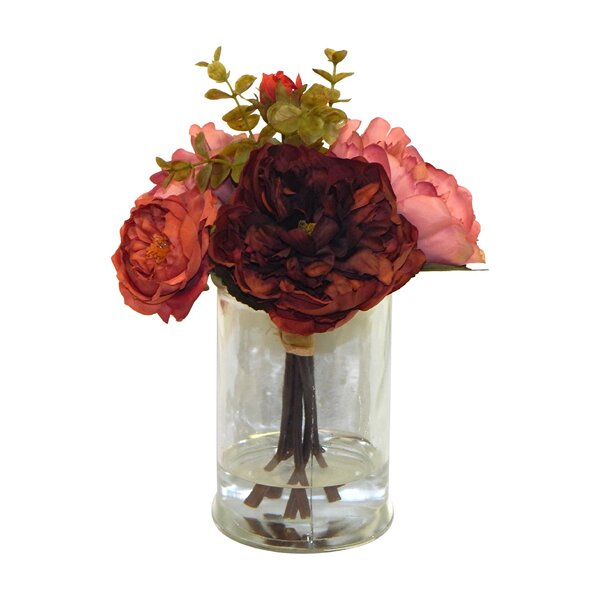 Jewel Toned Dahlia and Ranunculus Floral Arrangement by Ebern Designs