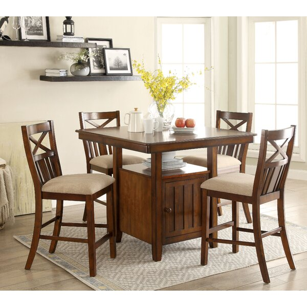 Bryson 5 Piece Dining Set by Loon Peak