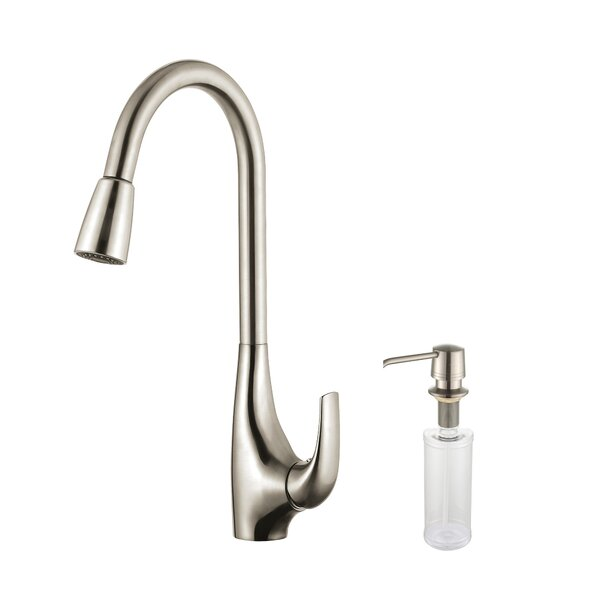 Pull Down Single Handle Kitchen Faucet by Kraus
