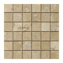 Light Filled 2 x 2 Travertine Mosaic Tile in Honed by Seven Seas