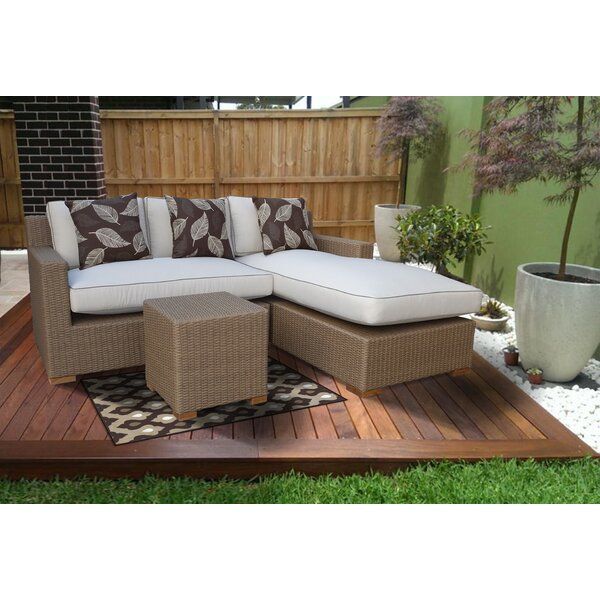 Galen 3 Piece Sectional Set with Cushions by Bayou Breeze