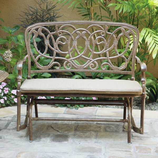 Trisara Aluminum Glider Bench with Cushion by Astoria Grand