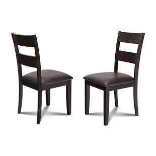 Charlestown Faux Leather Dining Side Chair (Set of 2) by Alcott Hill