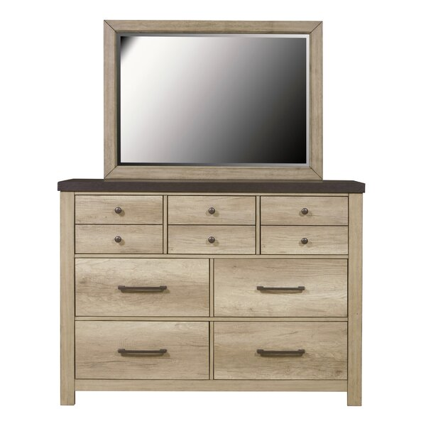 Destinie 10 Drawer Double Dresser with Mirror by Union Rustic