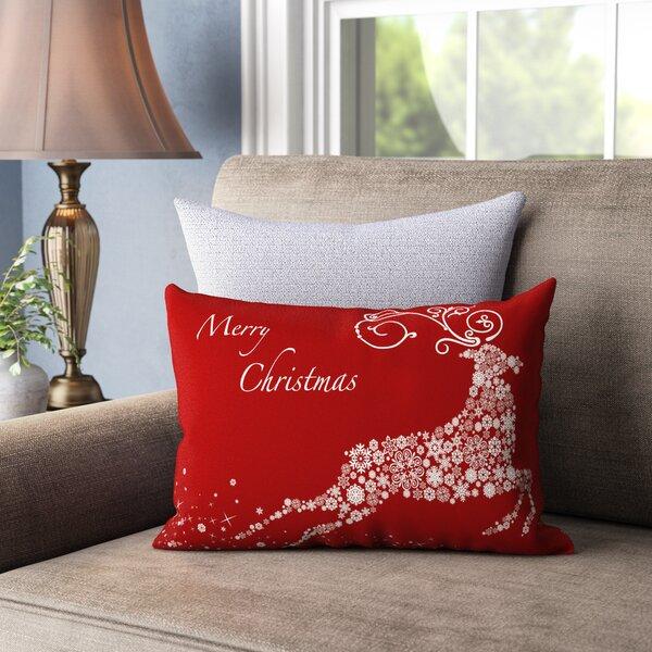 Cantor Snowflake Reindeer Lumbar Pillow by Andover Mills