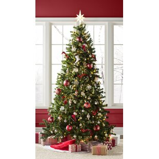 8 foot artificial christmas tree hangs ceiling green spruce artificial christmas tree with clearwhite lights foot trees youll love wayfair